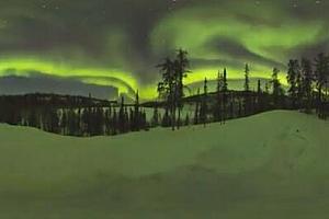 360度完美北极光_世界奇观VR全景视频(4k)【上下格式】