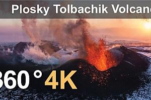 俄罗斯堪察加省托尔巴契克火山喷发-全景VR视频【上下格式】