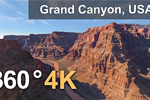VR视频 美国大峡谷4K空中俯视360度VR视频【上下格式】