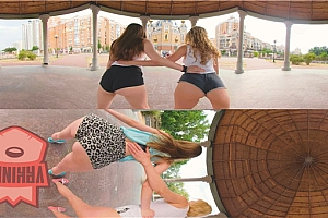 在公园舞蹈性感热舞美女福利 360度全景VR视频下载【上下格式】