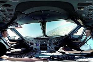 360°全景VR视频: 瑞士航空空客A320飞行员控制室 _日内瓦–苏黎世【上下格式】