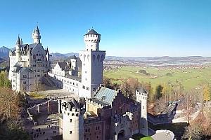 全景VR视频:新天鹅堡(德国)。空中360视频,5K超清VR视频下载【上下格式】