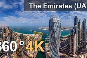 360°VR全景视频:阿联酋,4K空中视频 (2021)
