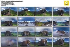 360°VR全景视频:安杰尔瀑布,委内瑞拉 VR风景视频免费下载