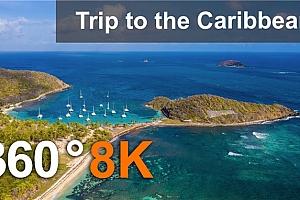 360°VR全景视频:加勒比海之旅 8K空中和水下 360度视频 (2021)