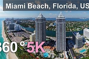 360°VR全景视频:迈阿密海滩 佛罗里达美国 空中360度视频 (2021)