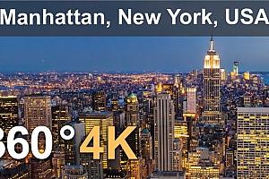 360°全景VR视频:曼哈顿,纽约,美国 摩天大楼(2021) VR视频免费下载