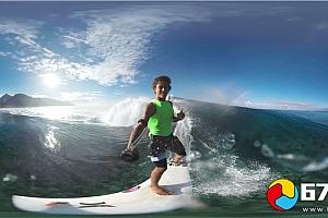 VR全景360°视频:冲浪极限运动 VR视频下载