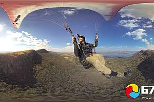 全景360°VR视频:极限运动运动海洋、降落伞、登山运动VR全景视频下载