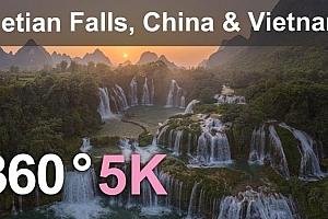 360°全景VR视频:《中越边境德田瀑布》5公里空中360度视频下载