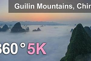 360°全景VR视频:《中国桂林山水》5公里空中360度视频 (2021)