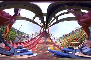 360°VR全景视频:《刺激过山车》4K游乐园过山车VR全景3D视频下载