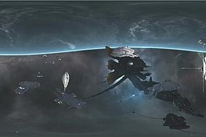 360°VR全景视频:银河系宇宙太空战舰飞船4KVR震撼视频下载