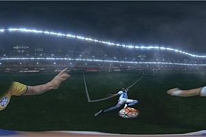 360°全景VR视频:世界杯第一人称视觉踢足球球员VR视频4K