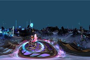 360°全景VR视频:英雄联盟/王者荣耀游戏英雄大乱斗视频4KVR全景视频下载