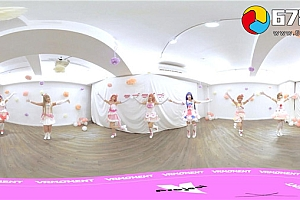 360° VR全景视频:可爱日本美少女团萌装甜美家宅舞《lovelive》VR视频