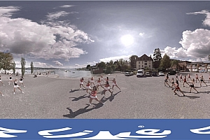 360° VR全景视频:美女啦啦队热舞VR视频下载