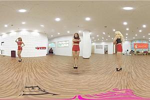 360° VR全景视频:韩国女团性感的美女镜头展示诱惑的舞姿VR视频高清4K