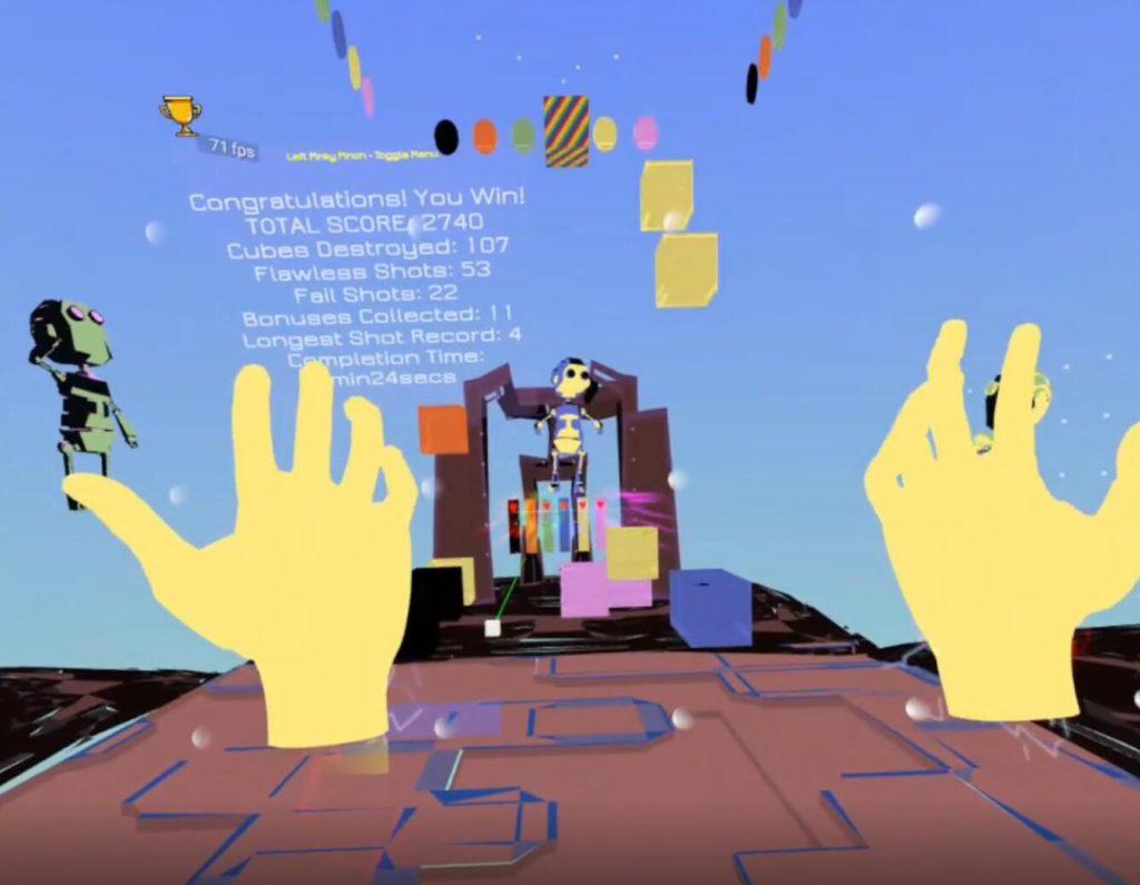 Oculus Quest游戏《Blockami VR》VR打砖块(Oculus Quest VR 手部追踪)插图(2)