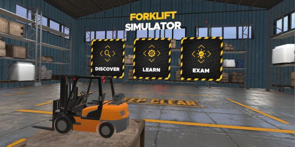 Oculus Quest 游戏《Chalkbites Forklift Simulator》叉车驾驶模拟器插图