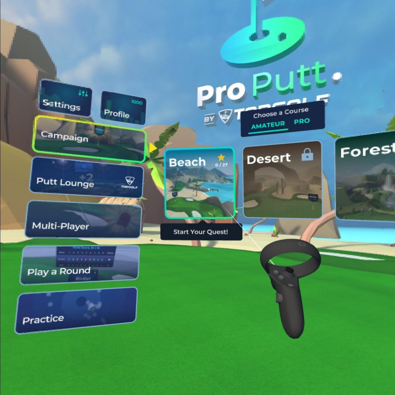 Oculus Quest版《Pro Putt》高尔夫