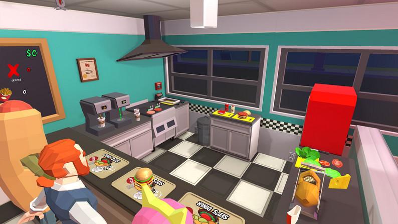 Oculus Quest 游戏《Seps Diner》汉堡餐厅插图