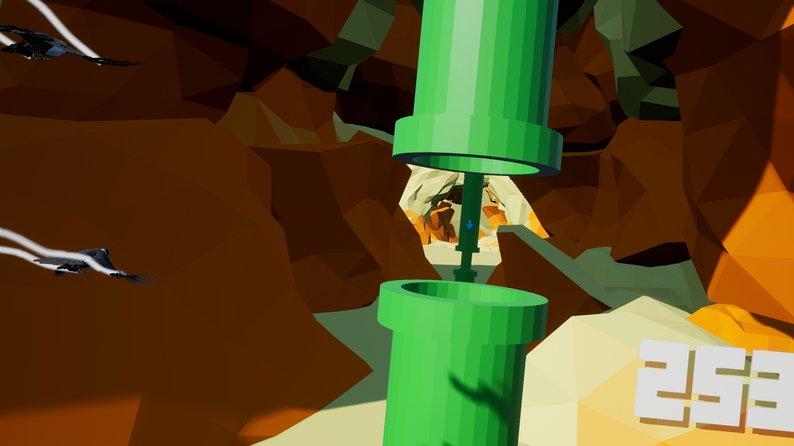 Oculus Quest 游戏《Flappy Flappy VR》像素小鸟插图(1)